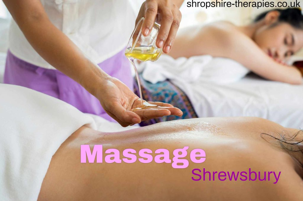 shrewsbury massage therapist with a patient